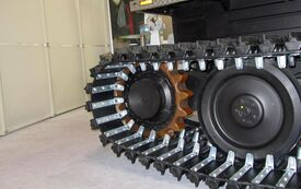 Drive wheet made of Diepothan in tracked vehicles